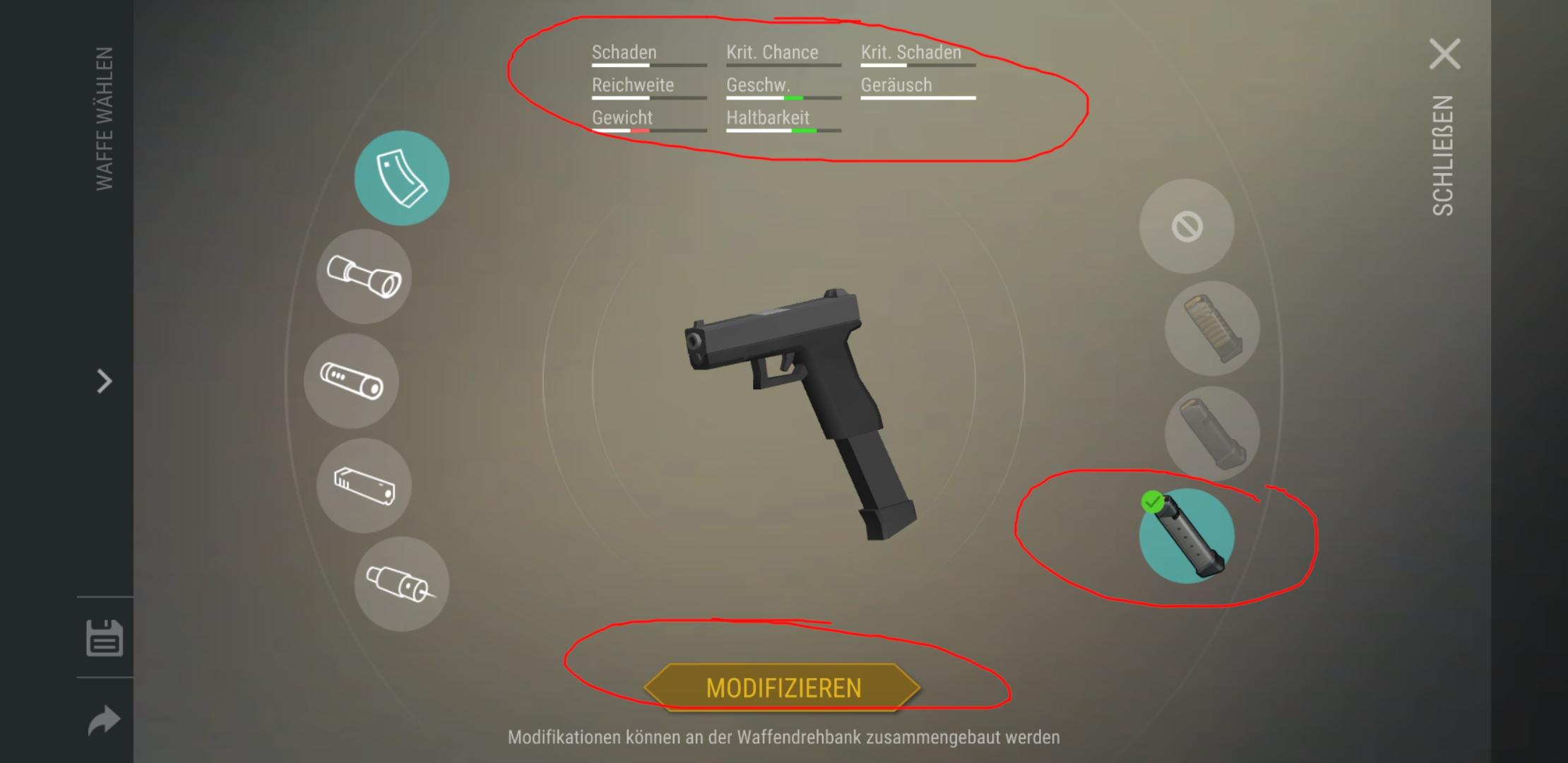 Waffendrehbank Waffe modifizieren 3